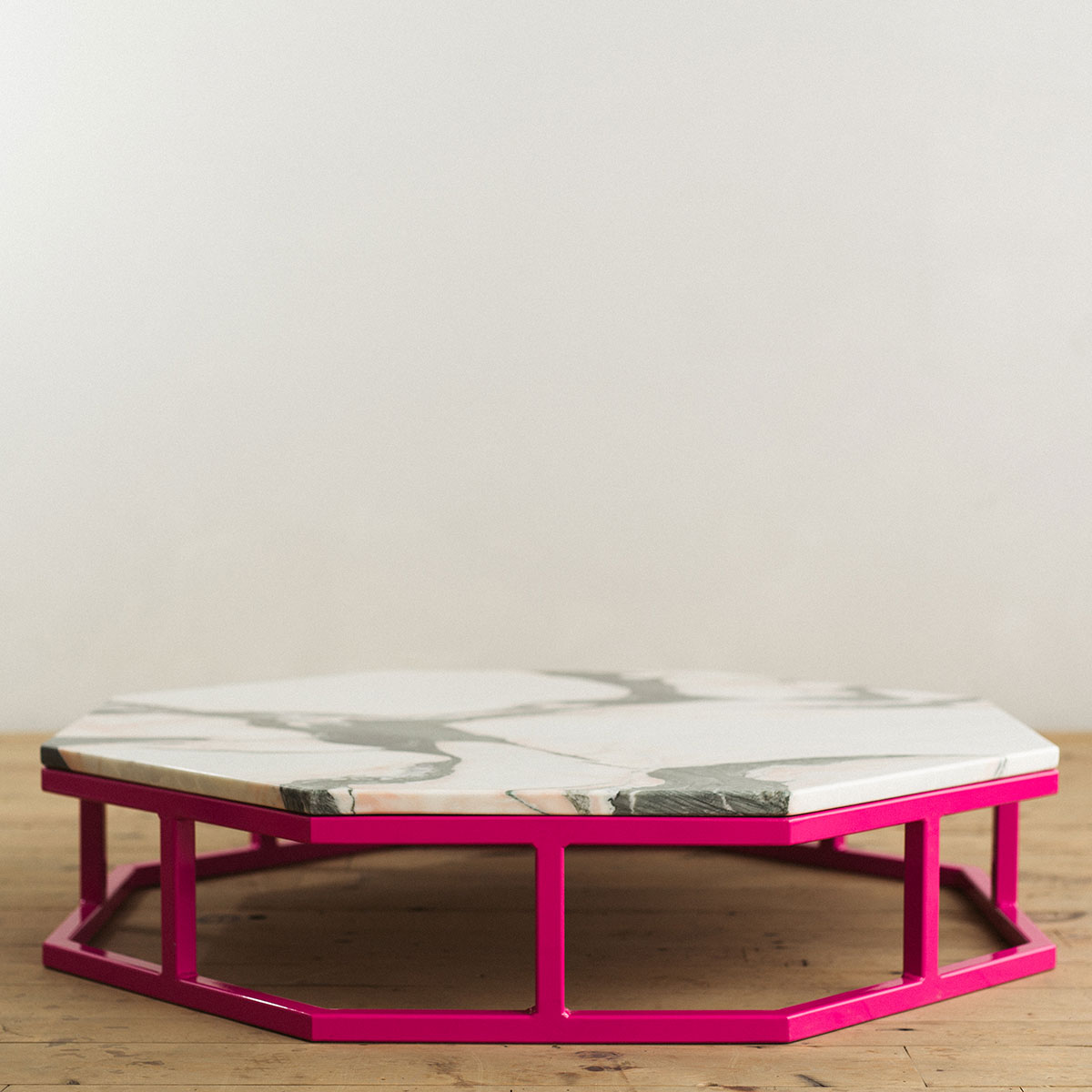 ... Octagon Steel Marble Coffee Table Pink 2 ...