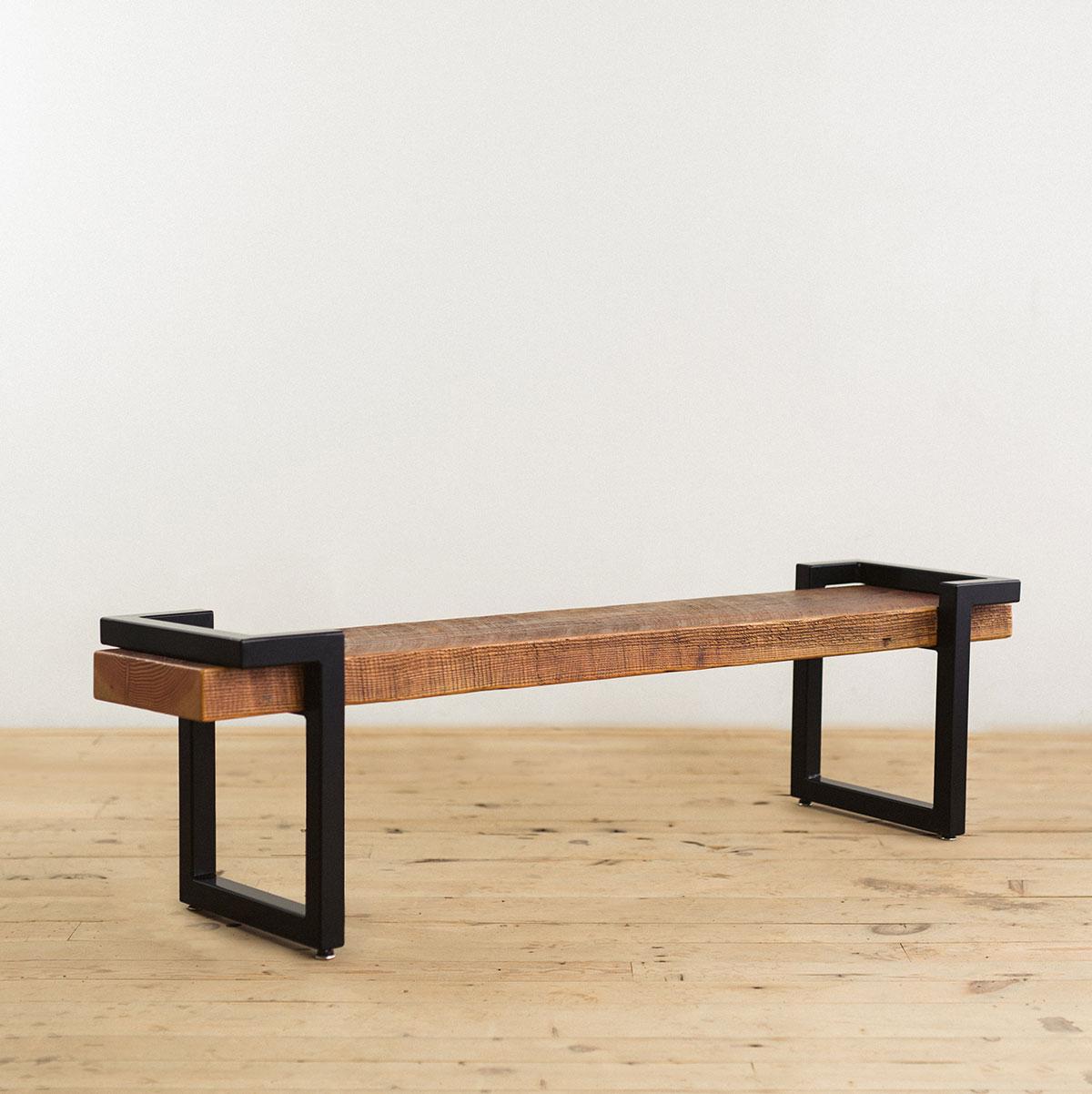 steel-salvage-barn-wood-bench-black