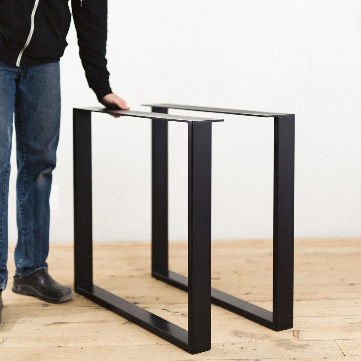 steel-u-shape-table-legs-powder-coated-black
