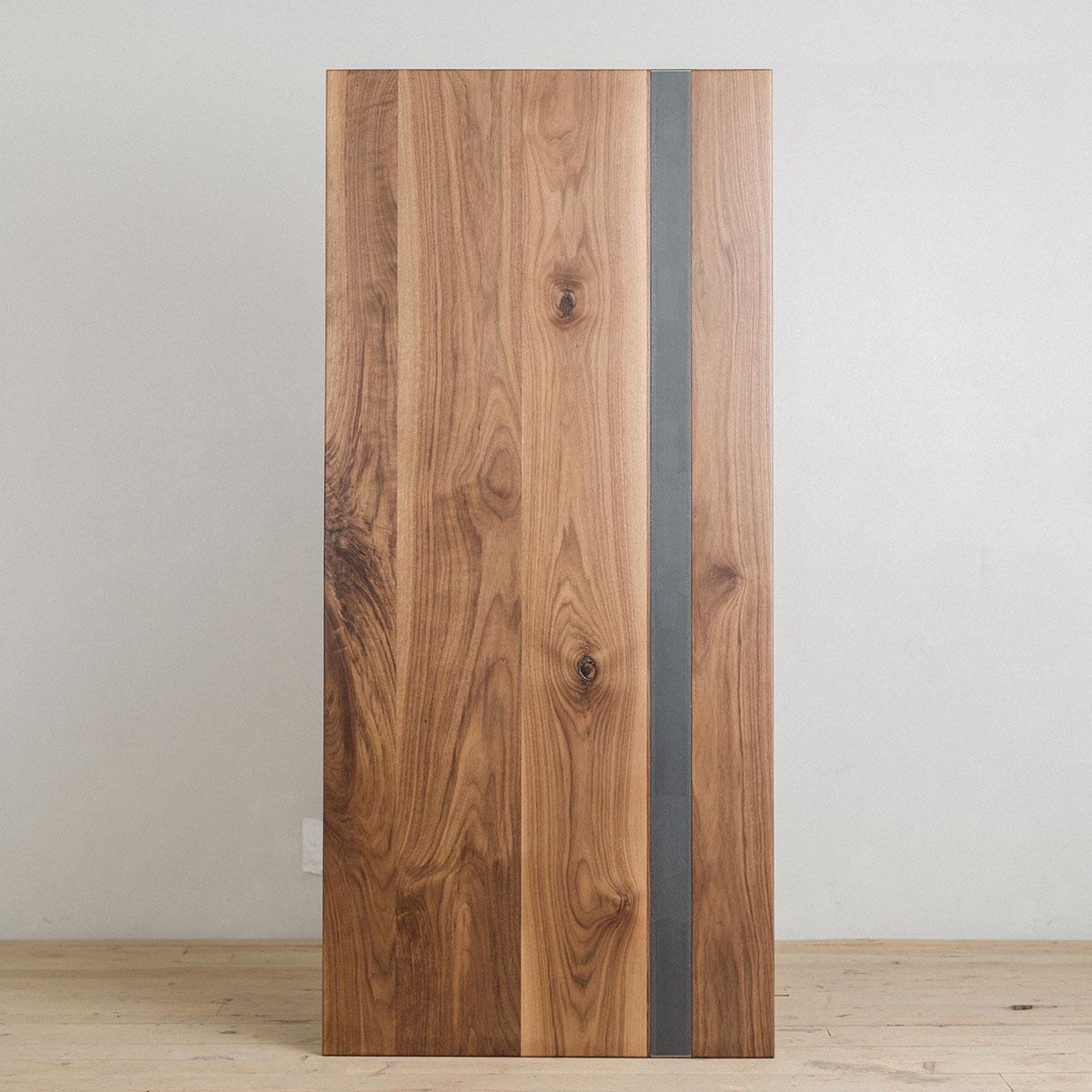 walnut-wood-table-top-steel-stripe