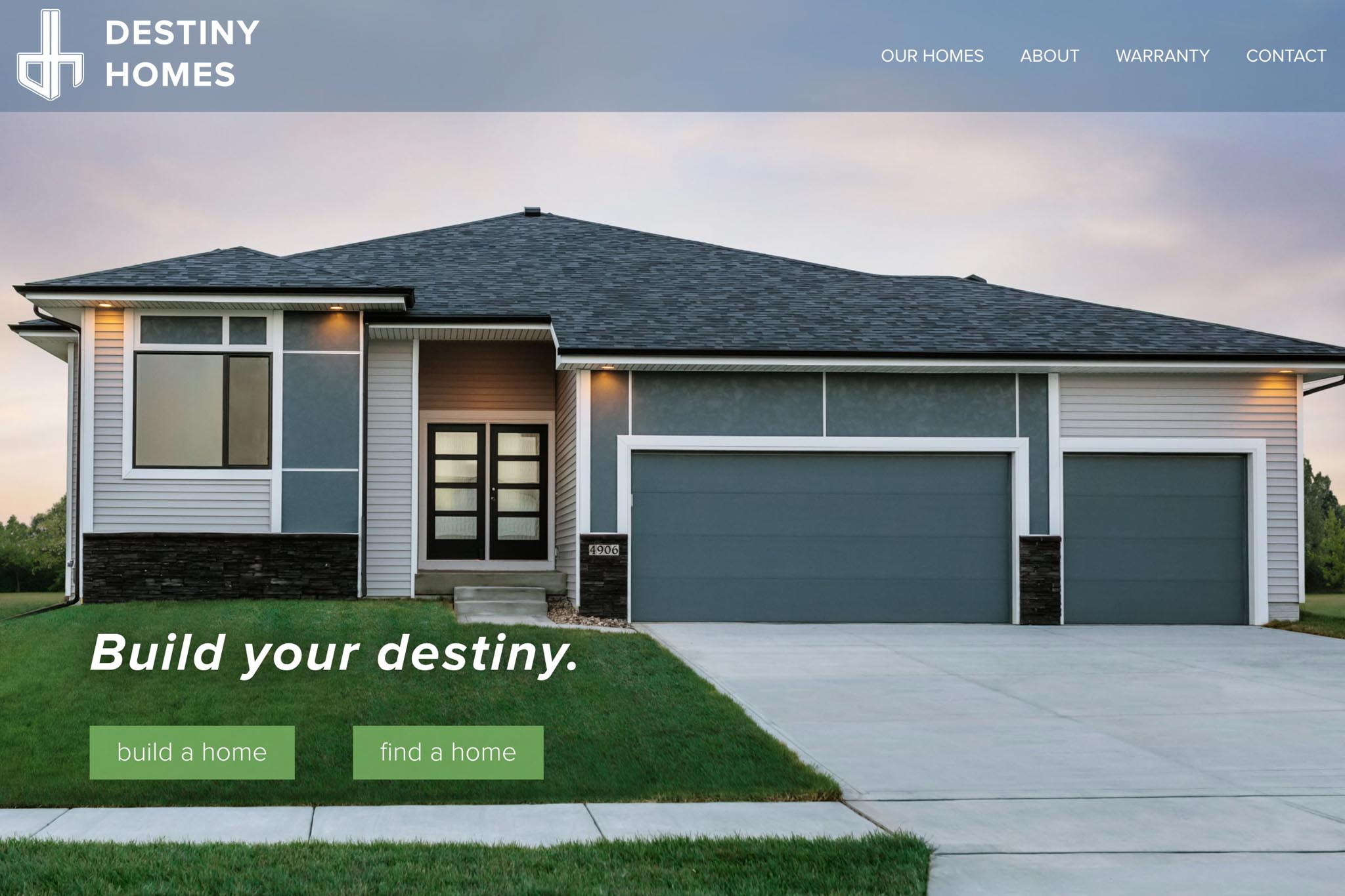 Des moines home builder web design for Home builder website