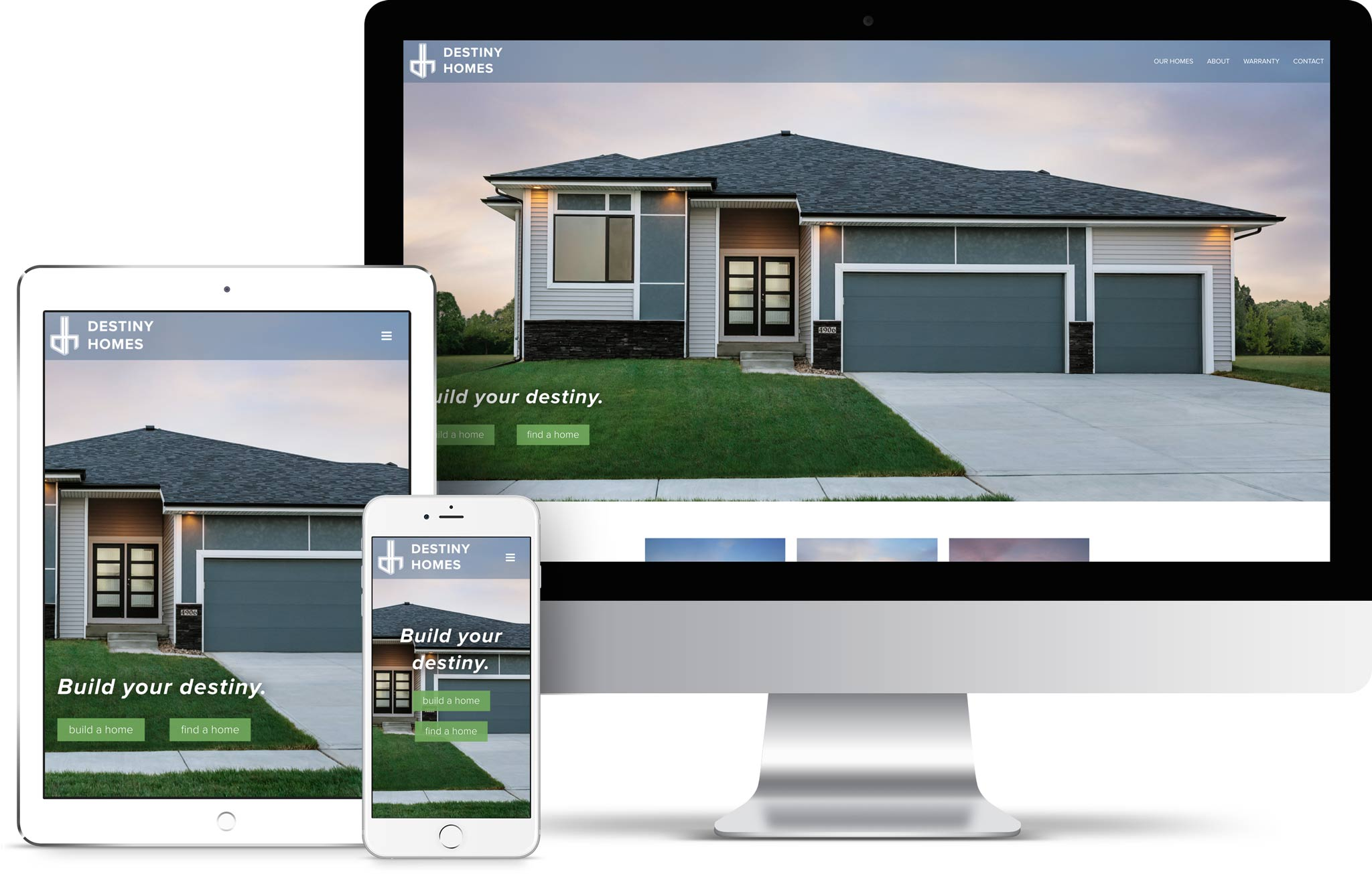 Destiny home builder des moines web design canoe there for Home building websites
